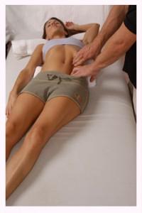 Finger Pressure on Rectus Abdominus - Clinical / Medical Massage Therapy School in Charlotte, North Carolina